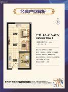 恒大帝景1室1厅1卫50--60平方米户型图