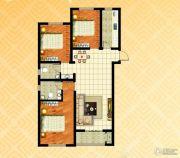 金色漫城3室2厅2卫137平方米户型图
