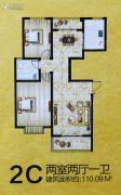 安泰颖水华庭2室2厅2卫110平方米户型图