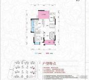京华假日湾2室2厅1卫76--79平方米户型图
