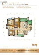 龙湖拉特芳斯4室2厅2卫105平方米户型图
