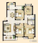 峰景湾4室2厅2卫123平方米户型图