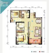 世茂・倾城2室2厅1卫0平方米户型图