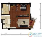华远九都汇2室1厅1卫106平方米户型图