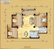 香岸华府二期3室2厅1卫94平方米户型图