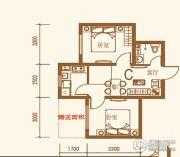 上尚城2室1厅1卫54平方米户型图