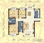 城市绿岛3室2厅2卫143平方米户型图