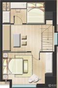 嘉隆国际广场3室2厅1卫0平方米户型图