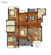 万科红郡4室2厅2卫0平方米户型图