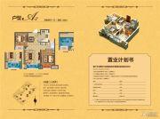 中南世纪雅苑2室2厅1卫69平方米户型图