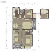 桂语里3室2厅2卫115平方米户型图