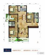 帝王国际4室2厅2卫162平方米户型图