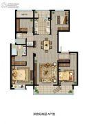 招商雍雅苑4室2厅2卫136平方米户型图