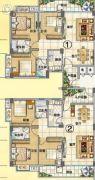 润晖新城3室2厅2卫110--116平方米户型图