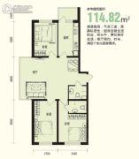 龙溪第3室1厅1卫114平方米户型图