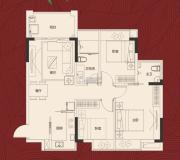 岭南世家・瑞府3室2厅2卫0平方米户型图