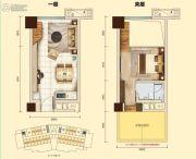 翠湖大厦1室2厅1卫0平方米户型图