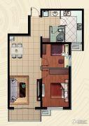 哈西万达广场2室2厅1卫84平方米户型图