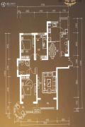 博雅园3室2厅2卫144平方米户型图