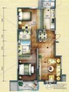 和平时光2室2厅2卫0平方米户型图