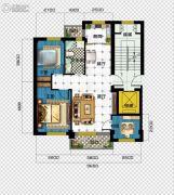 广达公馆3室2厅1卫91平方米户型图