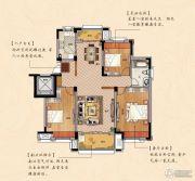鹏欣瑞都 高层3室2厅1卫113平方米户型图