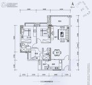 翔隆七色城邦3室2厅1卫103平方米户型图