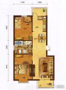 红海湾皇家海岸一期2室2厅1卫89平方米户型图