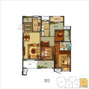 上虞万达广场3室2厅2卫0平方米户型图