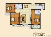 中购御景城3室2厅2卫110平方米户型图