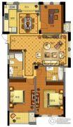 金城华府3室2厅2卫141平方米户型图