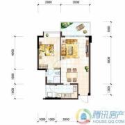 雅居乐十里花巷1室2厅1卫56平方米户型图
