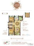 梧桐香郡3室2厅2卫111平方米户型图