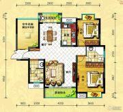 中央新城2室2厅2卫110平方米户型图