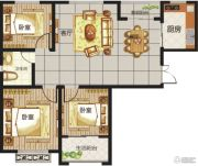 龙城国际3室2厅1卫0平方米户型图