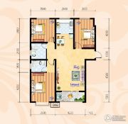 米苏阳光3室2厅2卫123平方米户型图