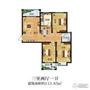 晋开清水湾3室2厅1卫113平方米户型图