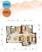 顺德碧桂园3室2厅2卫107平方米户型图