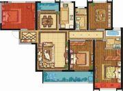 荣民宫园学府4室2厅2卫134平方米户型图