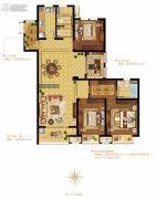 融科・玖玖派3室2厅2卫142平方米户型图