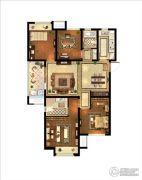 中粮鸿云4室2厅2卫117平方米户型图
