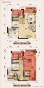 置地城二期・天玺4室2厅2卫98--99平方米户型图