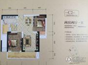 金融街融景城2室2厅1卫67平方米户型图