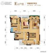 金科城2室2厅2卫0平方米户型图