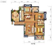 宫园美岸4室2厅2卫127平方米户型图