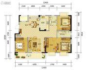 康平家园康平福邸4室2厅2卫148平方米户型图