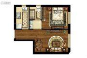 中海学府公馆1室1厅1卫0平方米户型图