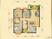 翰林华府3室2厅2卫116平方米户型图