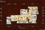 四川煤田光华之心3室2厅2卫112平方米户型图