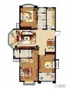 齐鲁涧桥3室2厅2卫133平方米户型图